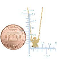 "JewelryAffairs - 14k Yellow Gold Mini Angel Pendant Necklace, 16"" To 18"" Adjustable - Lyst"