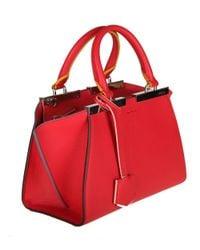 Fendi - Women's Red Leather Handbag - Lyst