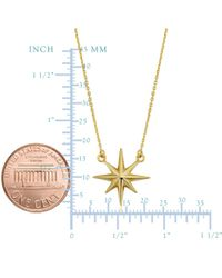 JewelryAffairs - 10k Yellow Gold North Star Pendant Necklace, 18 - Lyst