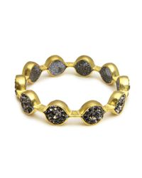 Saachi | Gray Marquis Gold Bracelet | Lyst