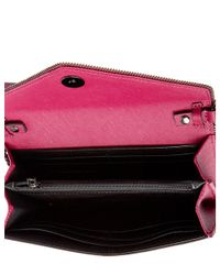 Rebecca Minkoff   Pink Cleo Leather Chain Wallet   Lyst