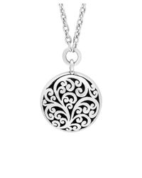 Lois Hill - Metallic Silver Round Scroll Necklace - Lyst