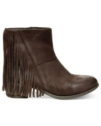 Steven by Steve Madden - Brown Womens Cassidyy Leather Closed Toe Ankle Fashion Boots - Lyst