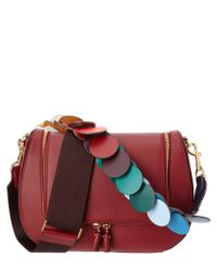 Anya Hindmarch | Red Vere Link Strap Leather Satchel | Lyst