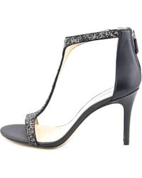 Imagine Vince Camuto - Phoebe Women Open-toe Leather Black Heels - Lyst