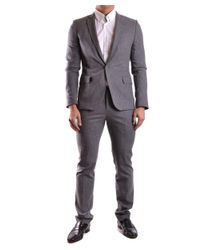 Bikkembergs - Gray Men's Mcbi042039o Grey Viscose Suit for Men - Lyst