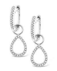 KC Designs - White 14k Gold And Diamond Teardrop Earrings - Lyst