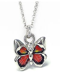 Jan Leslie - Red Butterfly Pendant / Charm Necklace - Lyst