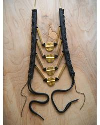 Love Leather | Multicolor Golden Rocked Necklace | Lyst