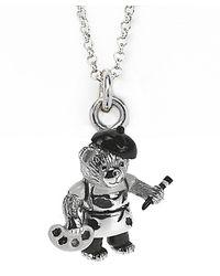 Jan Leslie - Metallic Artistic Bear Pendant / Charm Necklace - Lyst