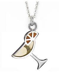 Jan Leslie - Yellow Martini Glass Pendant / Charm Necklace - Lyst