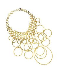Jan Leslie | Metallic Women's Loop Necklace | Lyst