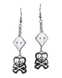 Tokidoki - Black Skull/diamond Fringe Earring - Lyst