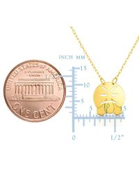 """JewelryAffairs - Metallic 14k Yellow Gold Angry Steam Exhaling Emoji Extentable Necklace, 16"""" To 18"""" - Lyst"""