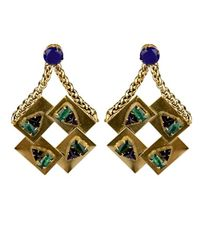 Nicole Romano | Metallic Corona Earrings | Lyst
