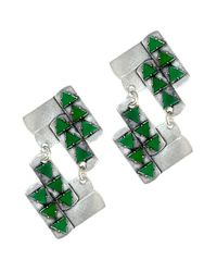 Nicole Romano - Green Nuwa Earrings - Lyst