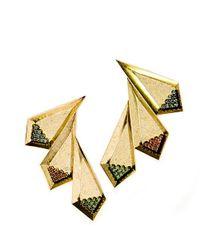 Nicole Romano | Metallic Ruolan Earrings | Lyst