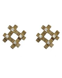 Nicole Romano - Metallic Fina Earrings - Lyst
