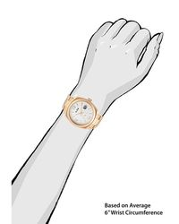 A_line - Metallic Dashuri Gold-tone Stainless Steel Silver-tone Dial Gold-tone Ss - Lyst
