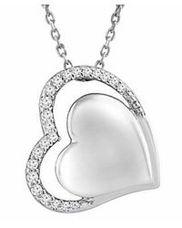 Tia Collections - Gray .925 Diamond Heart Pendant 0.08ctw - Lyst