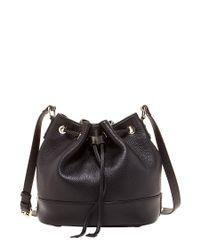 Susu | Ava Black Leather Bucket Bag Drawstring | Lyst
