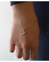 Olive Yew - Yellow Gold Clover Bracelet - Lyst