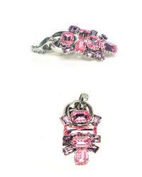 Otazu | Pink And Purple Small Surprise Swarovski Crystal Necklace | Lyst