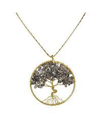 Aeravida   Metallic Eternal Tree Of Life Brass Long Necklace   Lyst