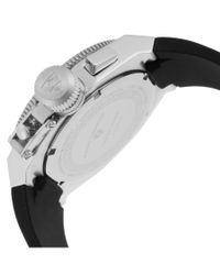 Swiss Legend - Trimix Diver 2.0 Chrono Black Silicone White Dial Rose-tone Bezel for Men - Lyst