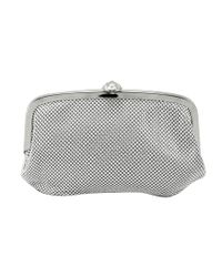 La Regale | Metallic Seashell Pouch Clutch | Lyst