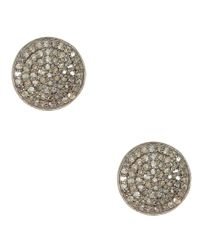 Adornia | Metallic Champagne Diamond And Sterling Silver Imogen Stud Earrings | Lyst