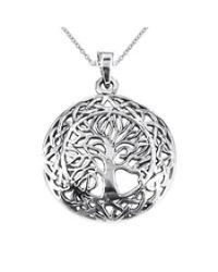 Aeravida | Gray Mystic Celtic Frame Tree Of Life Sterling Silver Pendant | Lyst