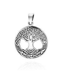 Aeravida | Gray Amazing Rare Celtic Tree Of Life Ster. Silver Pendant | Lyst