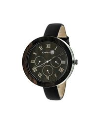 Earth Wood - Brown Brush Leather-band Watch - Lyst