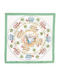 Hermès - Green Pre-owned: Jeu Des Omnibus Et Dames Blanches - Lyst