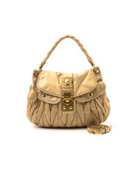 Miu Miu - Natural Pre-owned: Coffer Bag - Lyst