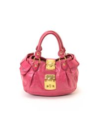 Miu Miu - Pink Pre-owned: Coffer Handbag - Lyst