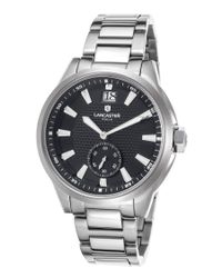 Lancaster Italy - Women's Apollo Stainless Steel Black Dial Stainless Steel - Lyst