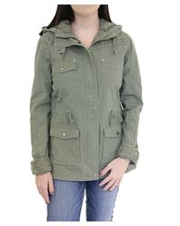 CoffeeShop - Gray Lace Back Anorak - Lyst