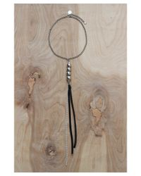 Love Leather - Metallic Disco Drop Necklace - Lyst
