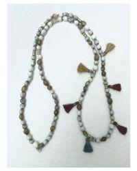 Botticelli's Niece - White Job's Tear Tassel Necklace - Lyst