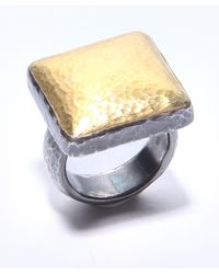 Gurhan | Metallic Two Toned Square Dome Ring | Lyst