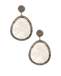 Vanhi - Metallic Rainbow Moonstone Classic Dangle Earrings - Lyst