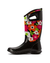 Bogs | Black Women's North Hampton Spring Flowers Rain Boots | Lyst