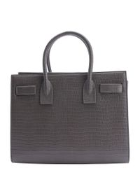 Saint Laurent - Multicolor Fog Croc-embossed Leather 'baby Sac De Jour' Convertible Tote - Lyst