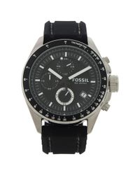 Fossil | Ch2573p Decker Chronograph Black Silicone Watch for Men | Lyst