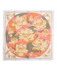Hermès - Multicolor Vintage Scarf Fleurs De Lotus - Lyst