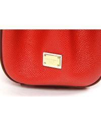 Dolce & Gabbana - Red Satchel Bag Dauphine - Lyst