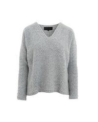 Quinn - Gray Solana Dodecahedron Intarsia Sweater - Lyst