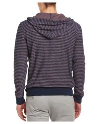 Faherty Brand - Blue Reversible Hoodie for Men - Lyst